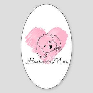 KiniArt Havanese Mom Sticker (Oval)