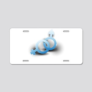 unisex symbol Aluminum License Plate