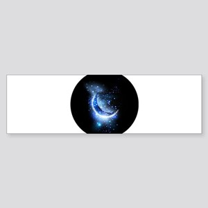 Awesome moon and stars Bumper Sticker