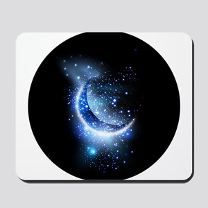 Awesome moon and stars Mousepad