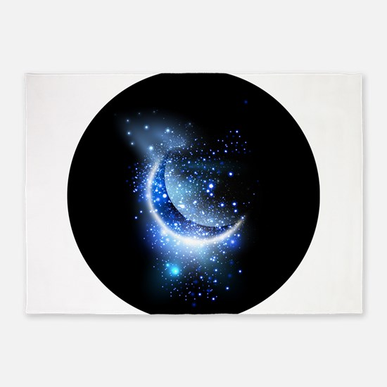 Awesome moon and stars 5'x7'Area Rug