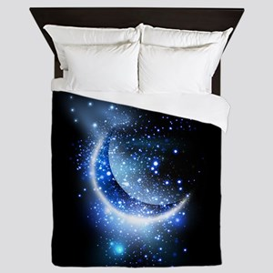 Awesome moon and stars Queen Duvet
