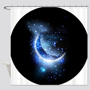 Awesome moon and stars Shower Curtain