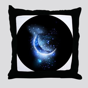 Awesome moon and stars Throw Pillow