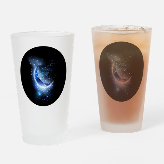 Awesome moon and stars Drinking Glass