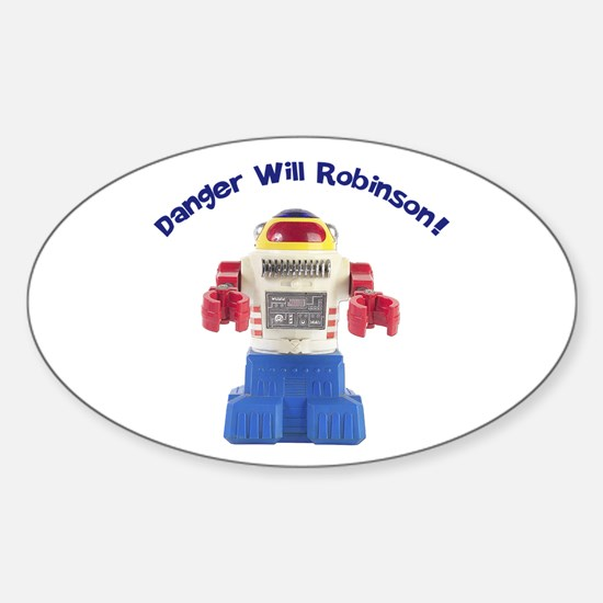 Danger Will Robinson Oval Decal