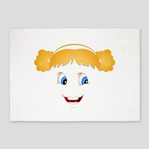 Little Blond smiling face 5'x7'Area Rug