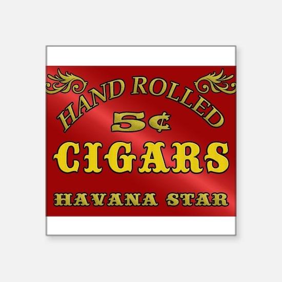 Vintage style Cigar Sign Sticker