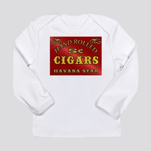 Vintage style Cigar Sign Long Sleeve T-Shirt