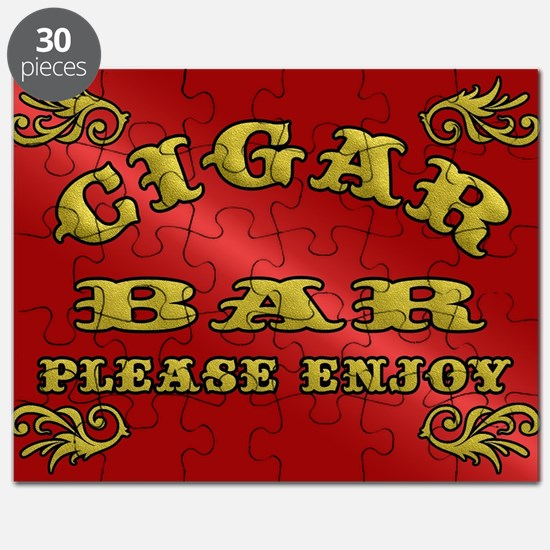 Vintage CIGAR BAR style sign Puzzle