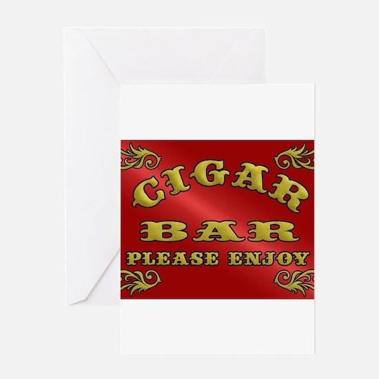 Vintage CIGAR BAR style sign Greeting Cards