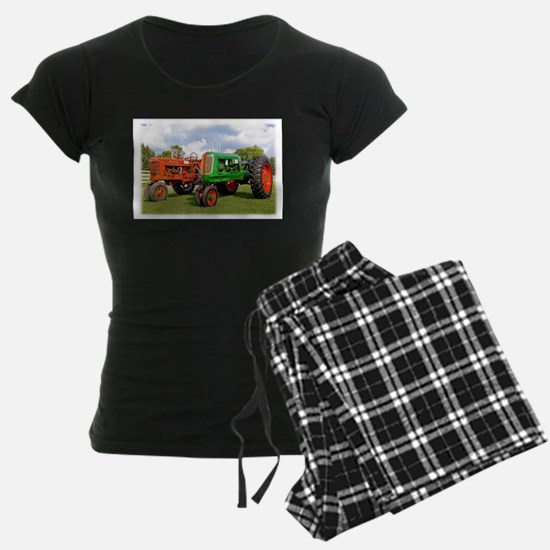 Vintage tractors red and gre Pajamas