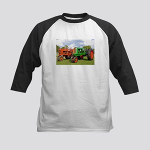 Vintage tractors red and green Baseball Jersey