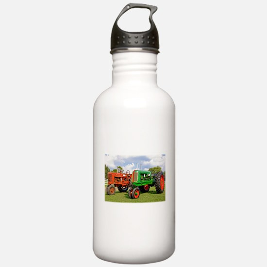 Vintage tractors red a Water Bottle