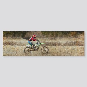 Dirt Bike Riding Bumper Sticker