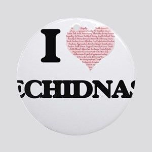 I love Echidnas (Heart Made from Wo Round Ornament