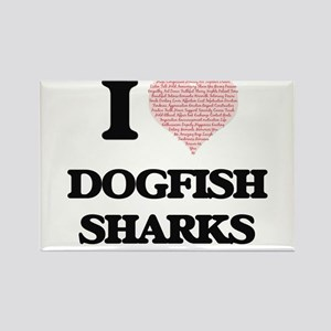 I love Dogfish Sharks (Heart Made from Wor Magnets