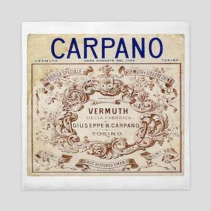 Vintage Carpano Vermuth Label Queen Duvet
