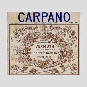 Vintage Carpano Vermuth Label Throw Blanket