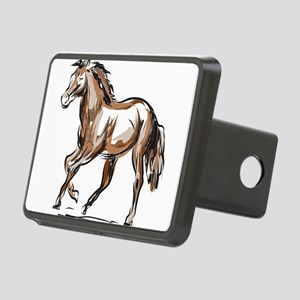 Horse sketch Rectangular Hitch Cover