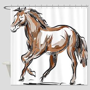 Horse sketch Shower Curtain