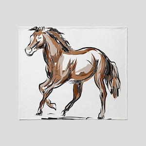 Horse sketch Throw Blanket