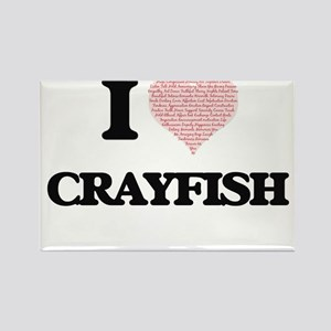 I love Crayfish (Heart Made from Words) Magnets