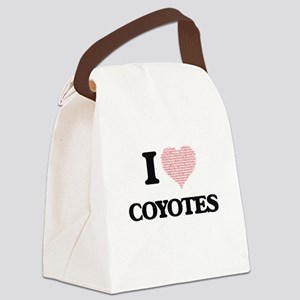 I love Coyotes (Heart Made from W Canvas Lunch Bag