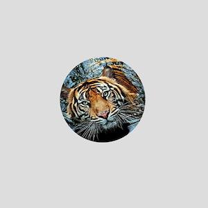 Tiger in Water Mini Button