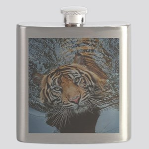 Tiger in Water Flask