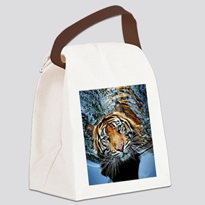 Tiger in Water Canvas Lunch Bag