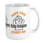 Halloween Scary Face Large Mug