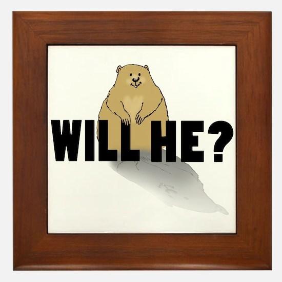 Will He? Framed Tile