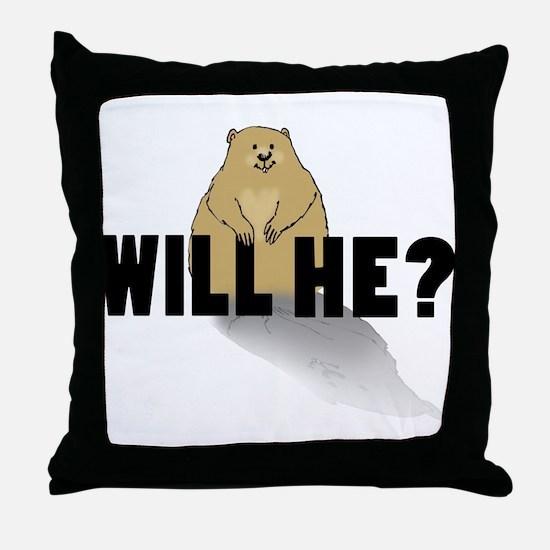 Will He? Throw Pillow