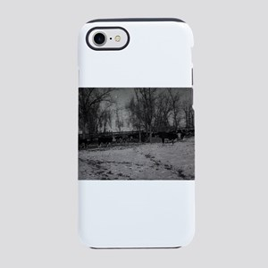 an old winter scene with tre iPhone 8/7 Tough Case