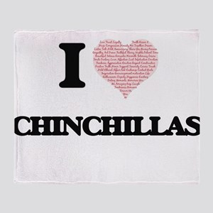I love Chinchillas (Heart Made from Throw Blanket