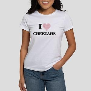I love Cheetahs (Heart Made from Words) T-Shirt