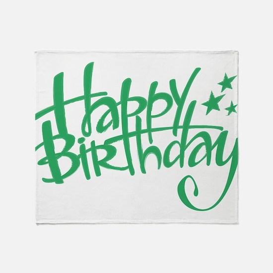 Happy birthday Throw Blanket