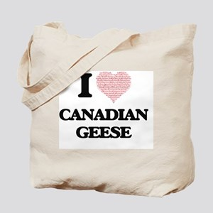 I love Canadian Geese (Heart Made from Wo Tote Bag