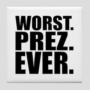 Worst Prez Tile Coaster