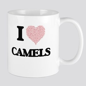 I love Camels (Heart Made from Words) Mugs