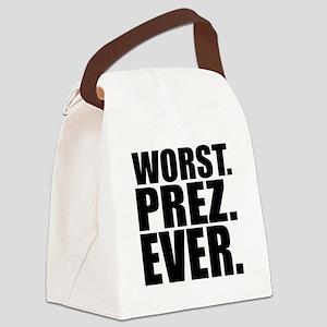 Worst Prez Canvas Lunch Bag