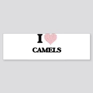 I love Camels (Heart Made from Word Bumper Sticker