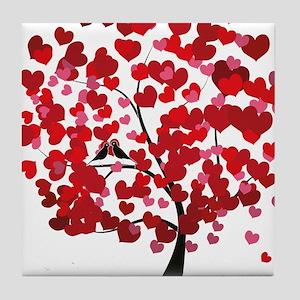 Love tree Tile Coaster