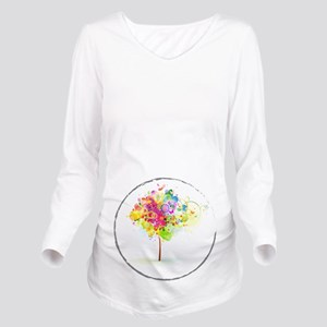 Colourful Psy Long Sleeve Maternity T-Shirt