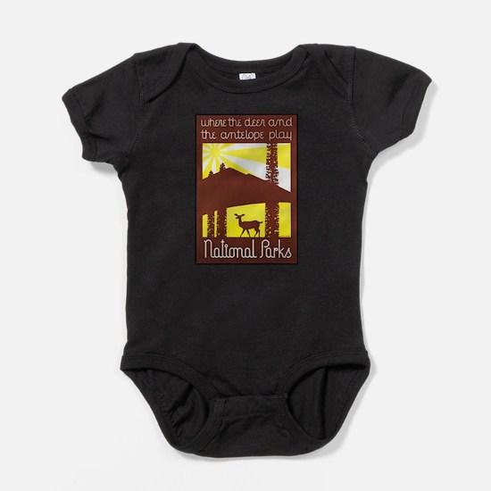 National Parks Travel Poster 3 Infant Bodysuit Bod