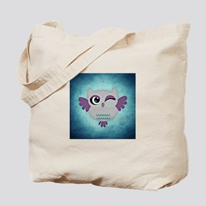 Blue Winking Owl Tote Bag