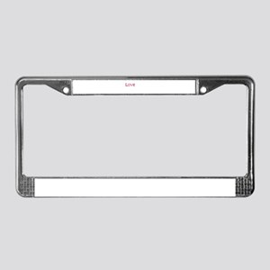 Love One Another License Plate Frame