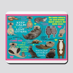 Otters Mousepad