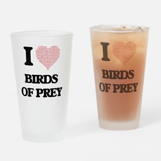 I love Birds Of Prey (Heart Made fr Drinking Glass